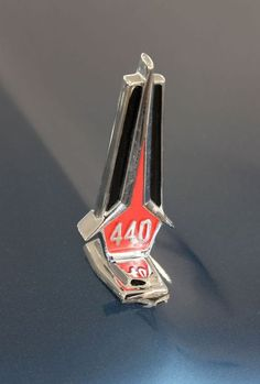 1966 440 hood ornament