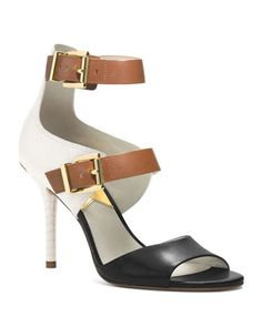 Michael Kors gets me yet again with these amazing colorblocked heels #michaelkors #colorblockpumps #anklestrappumps