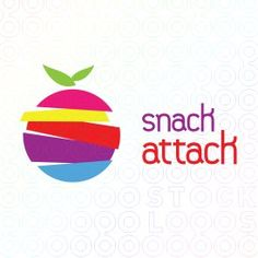 The design has the colorful text and the picture of the apple pop out from the background. The background design is unique because it conrains many faded out letters that add character to the logo.