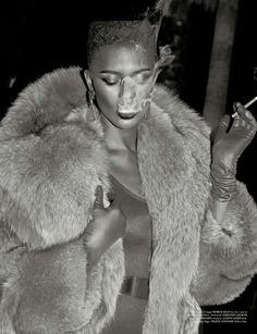 """The Look: Grace Grace Jones for Galore """" Photography by Elias Tahan, styling by Kyle Blackmon. Makeup by Anthony Nguyen, hair by Cantrell Mitchell."""
