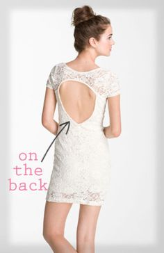 cutouts on the back {understated yet oh-so sexy}