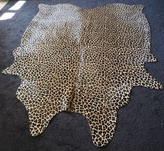 PREMIUM BRAZILIAN COWHIDE RUG - WONDERFUL LEOPARD PRINT - A TOUCH OF THE EXOTIC  #ANIMALIAEXOTICA