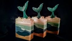 Handmade Mermaid Soap by Harpers Bath time Lovely and fun Deli News, Glycerin Soap Base, Soap Tutorial, Mermaid Diy, Goat Milk Soap, Cold Process Soap, Soap Recipes, Home Made Soap, Handmade Soaps