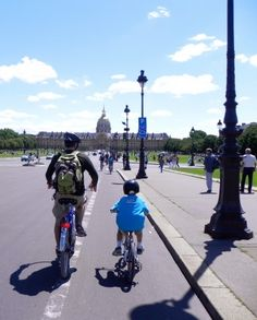 Kids can ride their bikes in Paris - at The Mother of all Trips
