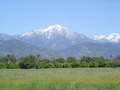 blues and greens blend to create this lovely view from Redlands California of the surrounding mountains. Photo by R&R PHOTOGRAPHY