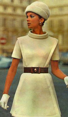 Model by:Pierre Cardin.Vogue Original Paris Patterns,1969.