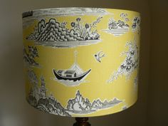 Handmade 30cm Pagoda Drum Lampshade by RubydoDesigns on Etsy