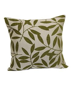 Look at this #zulilyfind! Lime Make Like a Tree Throw Pillow by Brentwood Originals #zulilyfinds