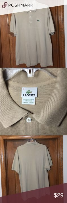 Lacoste Polo Gently Used Size 7 Lacoste mens size 7 classic fit polo, lightly worn, smoke free, pet free, two button Lacoste Shirts Polos