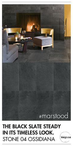 MARSTOOD COLLECTION - STONE 04 OSSIDIANA THE BLACK SLATE STEADY IN ITS TIMELESS LOOK   #marstood    www.cermagica.it/portfolio/marstood-collection/    #anewstorysince1983 #excellenceisanart #ceramics #ceramica #porcelain #terracotta #stone #basalt #cement #tile #design #madeinitaly #cersaie2016 #cersaie #interiordesign #exteriordesign #italiandesign #homedesign #ceramicamagica1983 #magica1983 #newcollection #ceramicsofitaly
