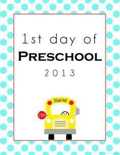 FREE back to school printable sign