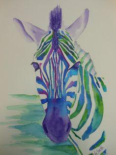 Art to Go: Zebra in Watercolor...sneak peek