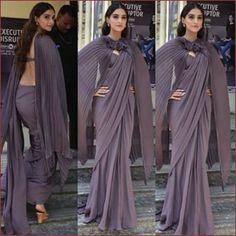 Never fails to impress! Saree Gown, Bridal Lehenga Choli, Saree Draping Styles, Saree Styles, Stylish Sarees, Stylish Dresses, Western Dresses For Women, Saree Wearing, Sari Design