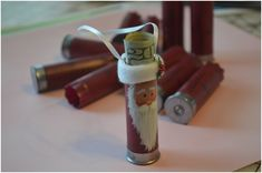 cute idea for use shotgun shells. Shirley McNeice, we need dad to save his shells!!!!!!!