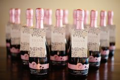 Champagne+as+favors+for+wedding+guests