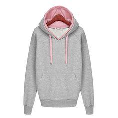 Casual Double Hoodies Long Sleeve Sweatshirt