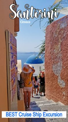 One of the most Instagrammed, luxurious, and romantic destinations, see why the Santorini cruise port was one of the best parts of our Mediterranean Cruise! #santorini #greece #boomertravel #babyboomertravel #boomersingreece