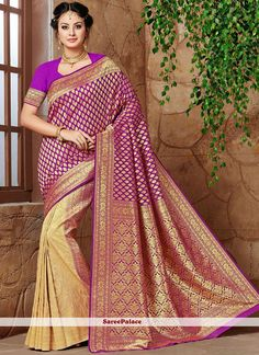 Buy latest collection of designer sarees including variety of sarees. Order this banarasi silk purple designer traditional saree for festival and party. New Saree Designs, Indian Textiles, Art Silk Sarees, Latest Sarees, Traditional Sarees, Indian Beauty Saree, Exclusive Collection, Sarees Online, Indian Wear