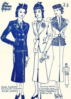 Lutterloh 1938 Book Of Cards -  Models Card 23