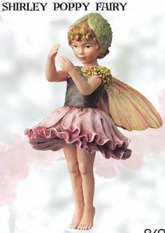 Retired Cicely Mary Barker Shirley Poppy Garden Fairy Figurine Ornament | eBay