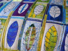 Angie's textile notes: Feathers and Leaves....the meditation of making