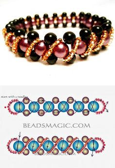 Free pattern for beaded bracelet Pamela | Beads Magic