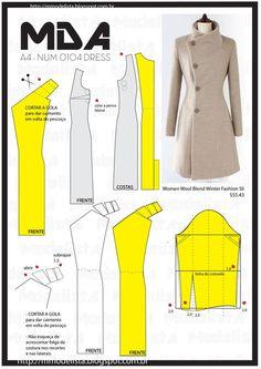 """A4 NUM 0104 DRESS """"O trench-coat faz parte das histórias fascinantes das roupas, um pouco como o jeans. Os dois têm origem funcional, militar a primeira, de trabalho o segundo"""", explicou à AFP Lydia Kamitsis, co-diretora da nova edição do """"Dictionnaire international de la mode"""" (Dicionário Internacional da Moda). Outra vantagem do casaco, segundo Lydya Kamitsis, é que """"é um camaleão, uma peça fácil de reinterpretar"""":"""