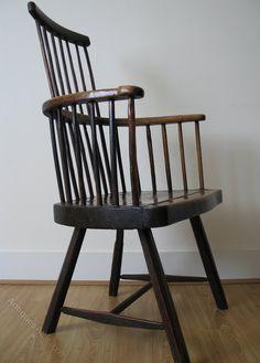 18th Century Primitve Welsh Comb Back Stick Chair - Antiques Atlas