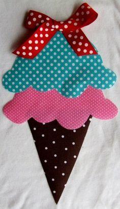 Ice cream cone...easy peasy! #nobow