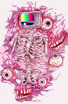 creepy things to draw - Google Search this would be cool a'f tattoo