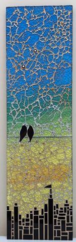 Date Night in the City by Cristina Ciloci  -  Maplestone Gallery  -  Contemporary Mosaic Art