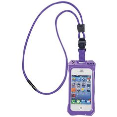 iPhone 4/4S Dri Cat Neck iT Waterproof Case with Lanyard (Purple)