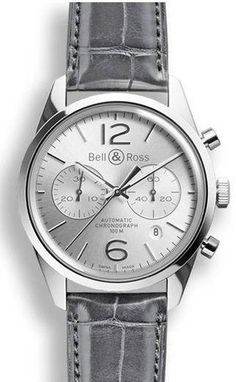 Bell & Ross Vintage BR 126 Officer Silver