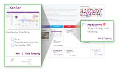 KanBan Task Board - Visualize your Tasks, To-Do's and Projects in OneNote - Templates for OneNote by Auscomp.com Onenote Template, One Note Microsoft, Evernote, Thats Not My, Boards, Journal, Templates, Projects, Planks