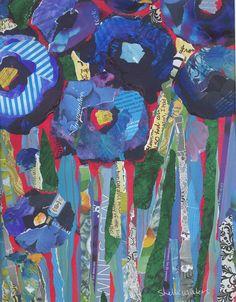 Blue Poppies Original Painting