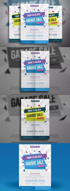 Garage Sale Flyer Template AI, PSD