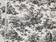 Laura Ashley fabric toile black French country from Brick House Fabric: Novelty Fabric