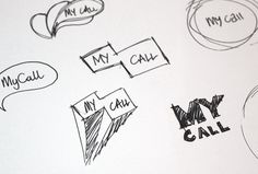 Process of the MyCall brand identity design by Brandlab