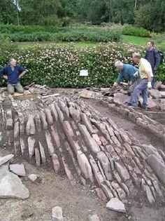 a crevice garden ready to plant- a rock gardener's heaven!