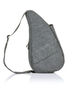 Textured Nylon Pewter Healthy Back Bag