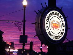 Fisherman's Wharf at sunset.  Travel Blog: Breezing Through San Francisco #travel #sanfrancisco #california