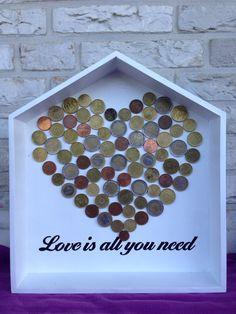 Originele manier om geld kado te geven op een bruiloft of verjaardag! #Handmade by Emile & Maayke