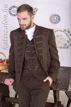 Bocskai oltony for Chris - in black preferably Black Parade Jacket, Moustache, Hungarian Embroidery, Fairy Clothes, Cool Outfits, Fashion Outfits, Best Mens Fashion, Folk Costume, Fashion History
