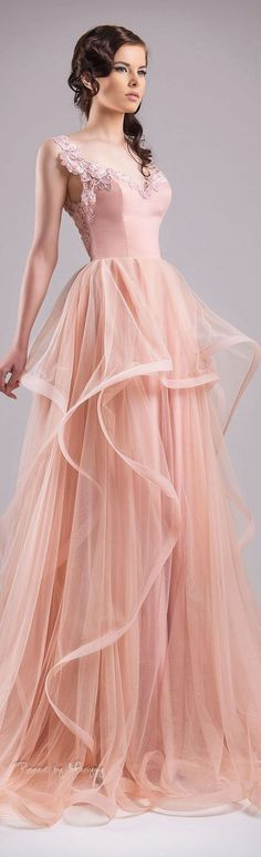 Blush Pink Prom Dresses,Ball Gown Prom Dress,Lace Prom
