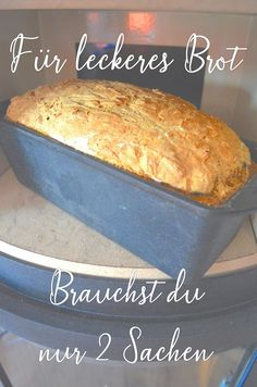 For bread baking you only need 2 utensils. Bread recipe, fast bread, bread z . - Delicious Meets Healthy: Quick and Healthy Wholesome Recipes Easy Vanilla Cake Recipe, Easy Cake Recipes, Bread Recipes, Baking Recipes, Dessert Recipes, Spelt Bread, Vegan Bread, Rye Bread, Food Cakes
