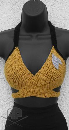 Items similar to Star Trek - Inspired Crochet Wrap Top - Washable on Etsy, Items similar to Star Trek - Inspired Crochet Wrap Top - Washable on Etsy , Crochet Bra, Crochet Bikini Pattern, Crochet Crop Top, Crochet Woman, Crochet Blouse, Crochet Clothes, Crochet Pillow, Blanket Crochet, Crochet Granny