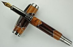 Handcrafted Wooden Pen Hand TurnedCocobolo and by MikesPenTurningZ, $139.00