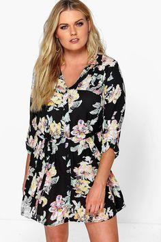 Eleanor Floral Shirt Dress
