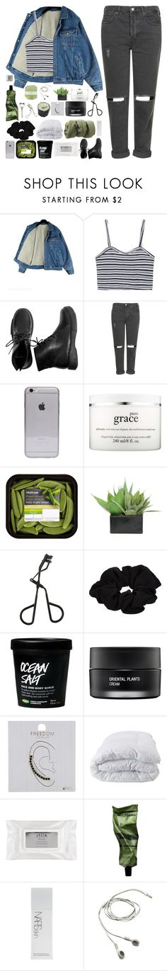 """""""c1"""" by r-eign ❤ liked on Polyvore featuring Topshop, philosophy, Lux-Art Silks, River Island, Koh Gen Do, Soft-Tex, Stila, Aesop, NARS Cosmetics and Pelle"""