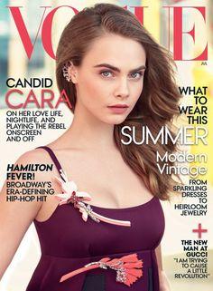 Cara Delevingne by Patrick Demarchelier for Vogue US July 2015